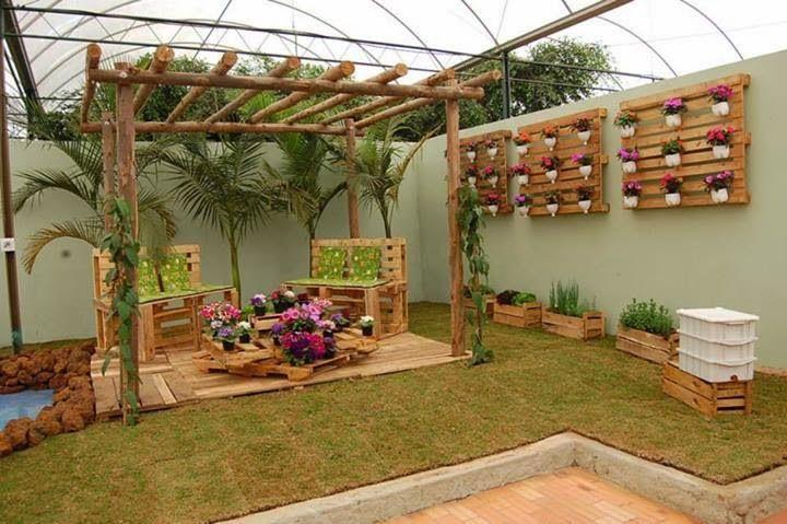 101 ideas de decoracion con palets hoy lowcost for Palets decoracion jardin