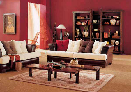 Colores para salones 2018 tendencias y consejos hoy lowcost - Muebles marrones de que color pinto las paredes ...