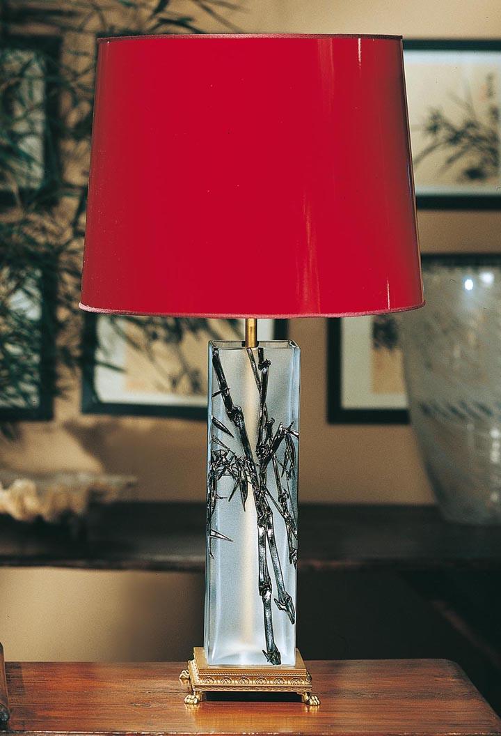 Tipo de lampara de mesa con pantalla