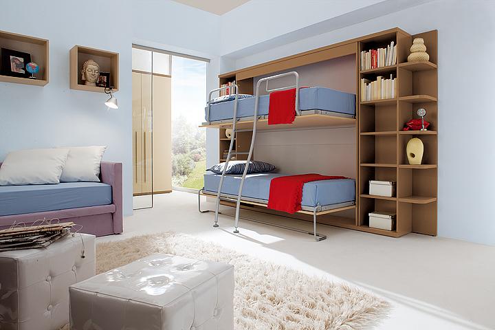 dormitorio literas abatibles