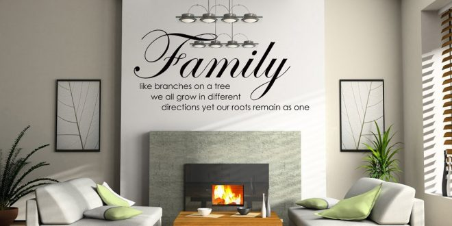 Decoracion paredes frases adhesivas hoy lowcost - Decoracion vinilo pared ...