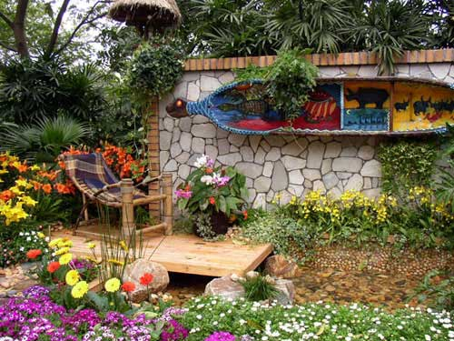 Jardines r sticos tendencia e ideas hoy lowcost - Decoracion para jardines rusticos ...