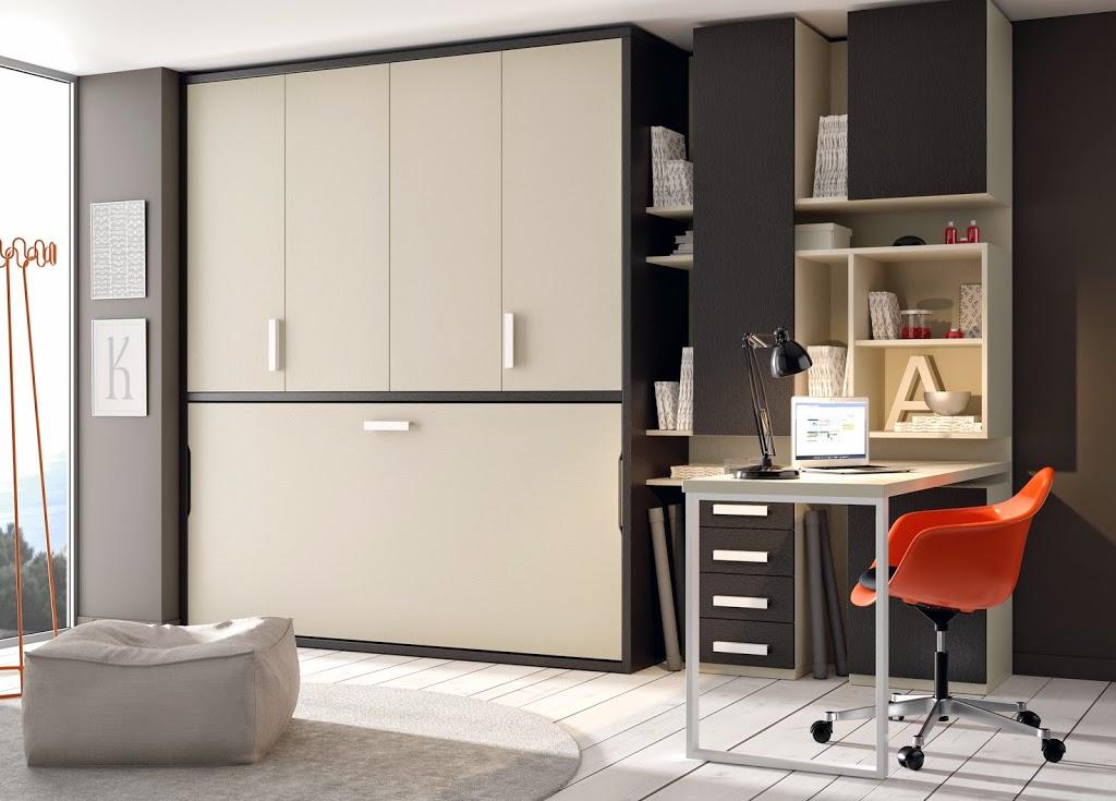 Literas abatibles soluci n en habitaciones compartidas - Habitaciones juveniles camas abatibles horizontales ...
