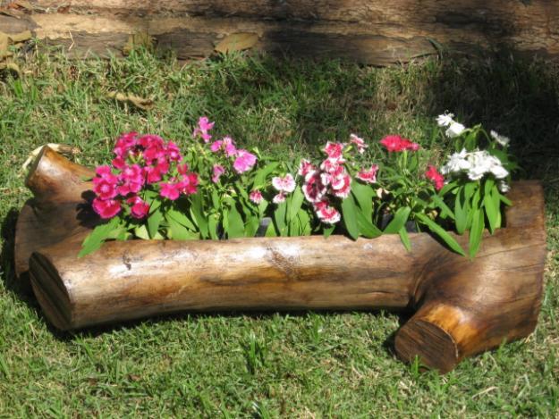 maderas en jardines rusticos