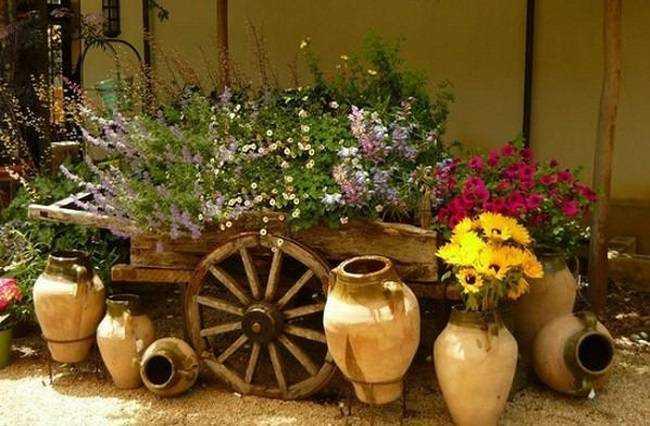 ceramicas jardin rustico