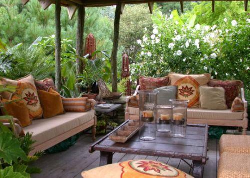 muebles de jardines rusticos