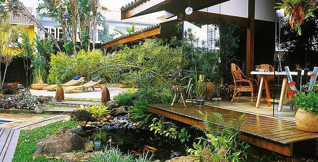 Jardin rustico con agua hoy lowcost Jardines rusticos pequenos