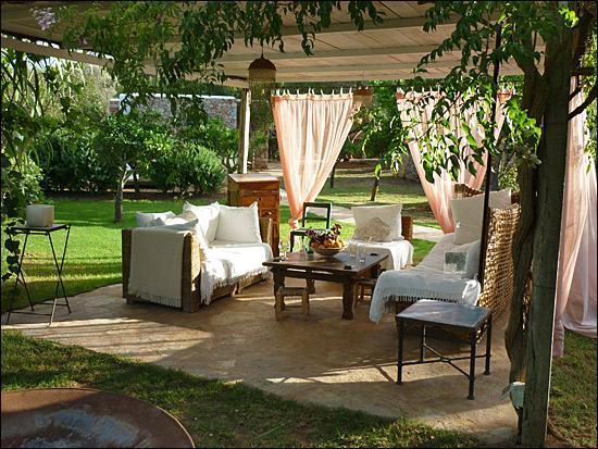 mobiliario jardines rusticos