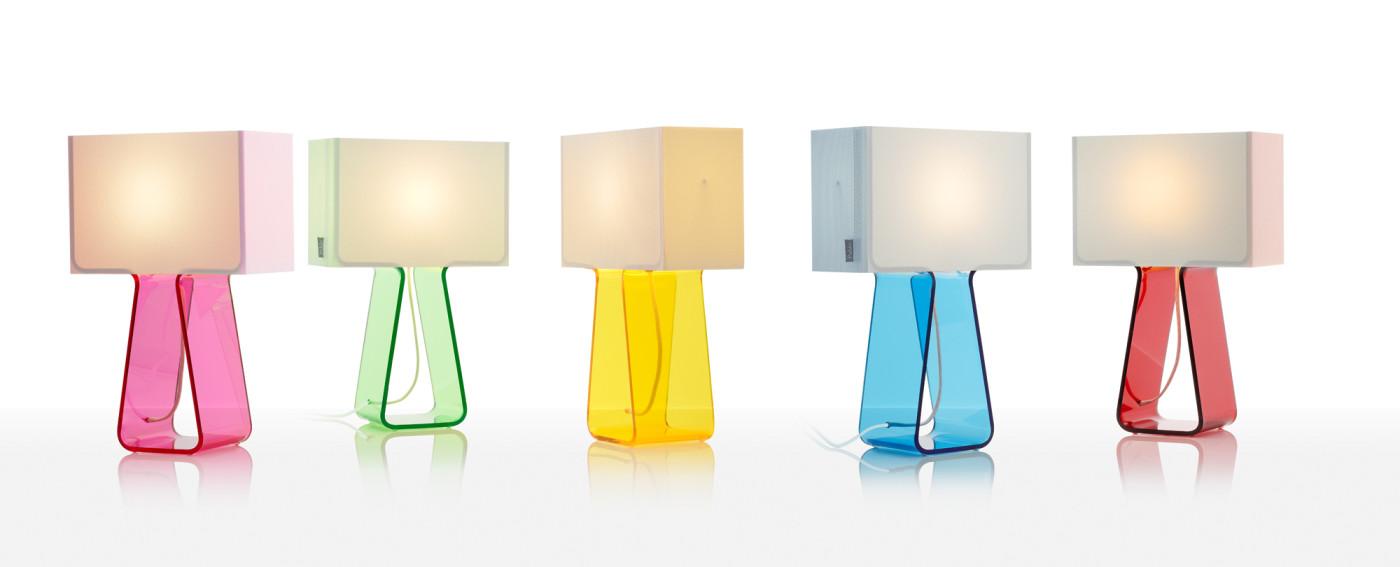 lamparas de mesa de colores