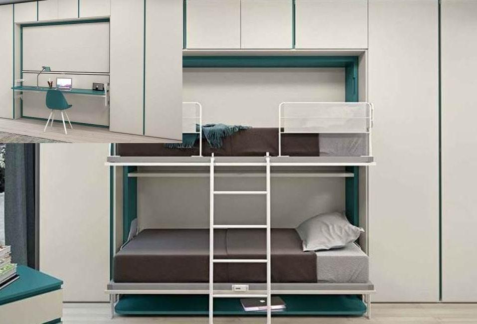 Literas abatibles soluci n en habitaciones compartidas - Literas para ninos espacios pequenos ...
