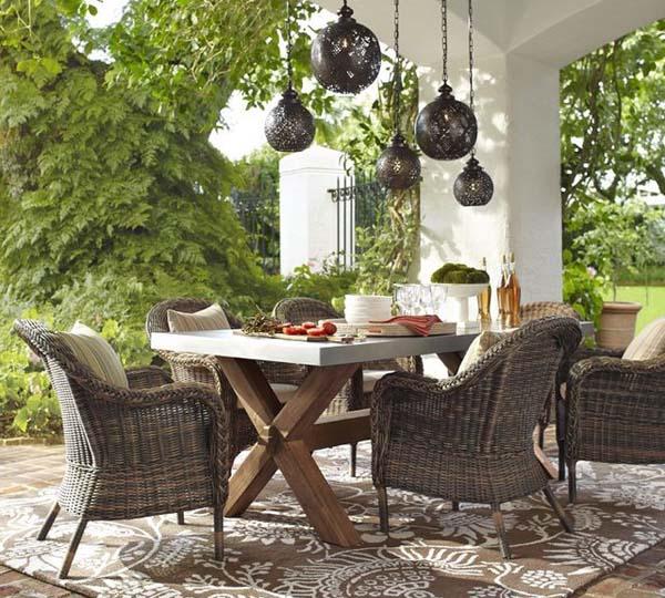 sillones de jardin rustico