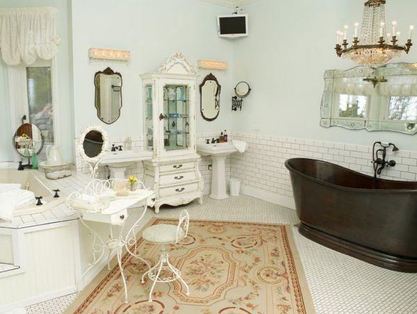 decoracion baños shabby chic
