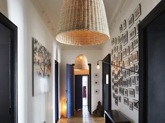 decoracion pasillo iluminacion techo