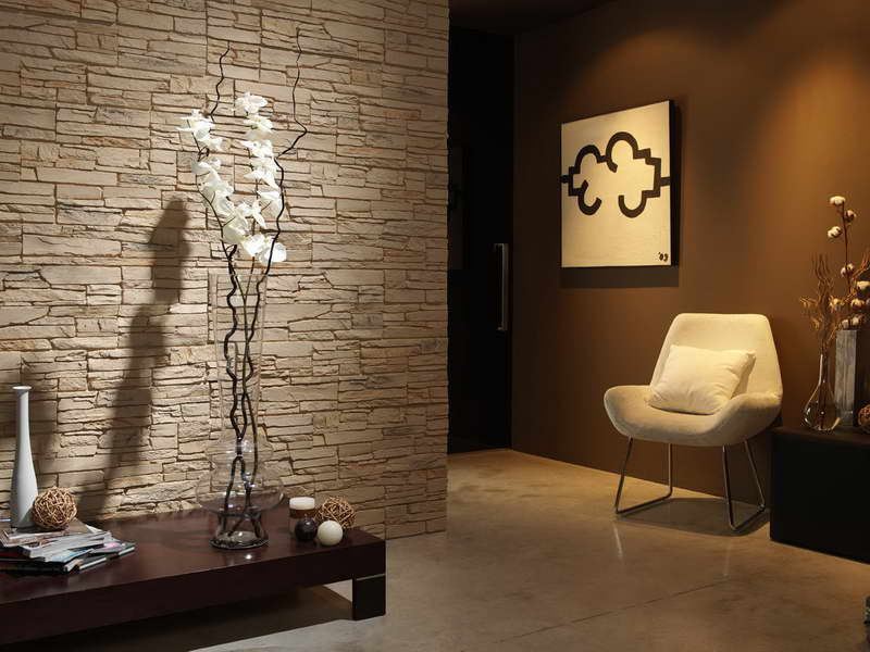 Ideas geniales en revestimiento de paredes hoy lowcost for Decoracion pared piedra