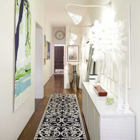 Decoraci n pasillos y recibidores consejos de iluminaci n hoy lowcost - Gorgeous home interior decoration with various ikea white flooring ideas ...