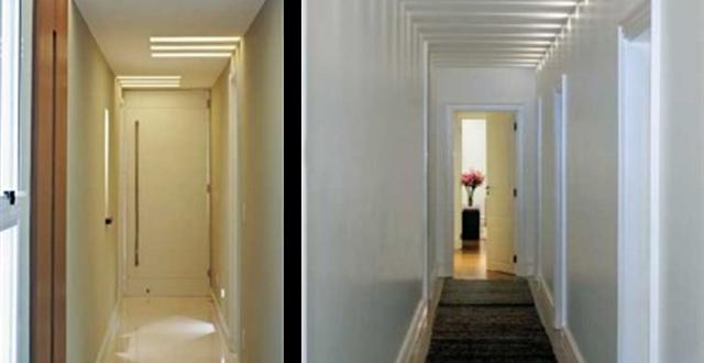 Luz indirecta pasillos estrechos y largos hoy lowcost - Pasillos largos y estrechos ...