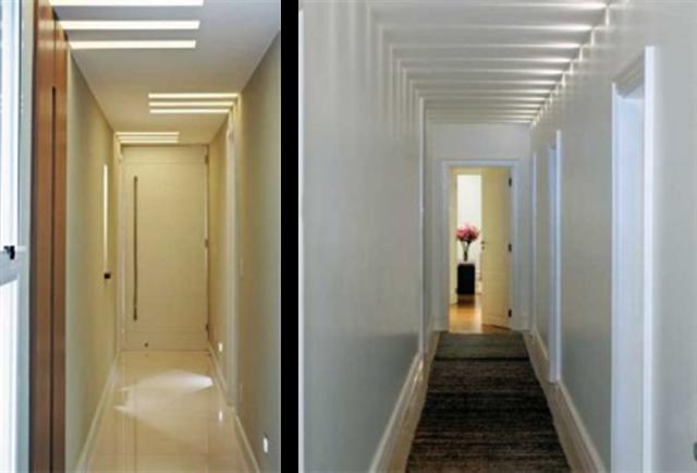 luz oculta recibidores y pasillos