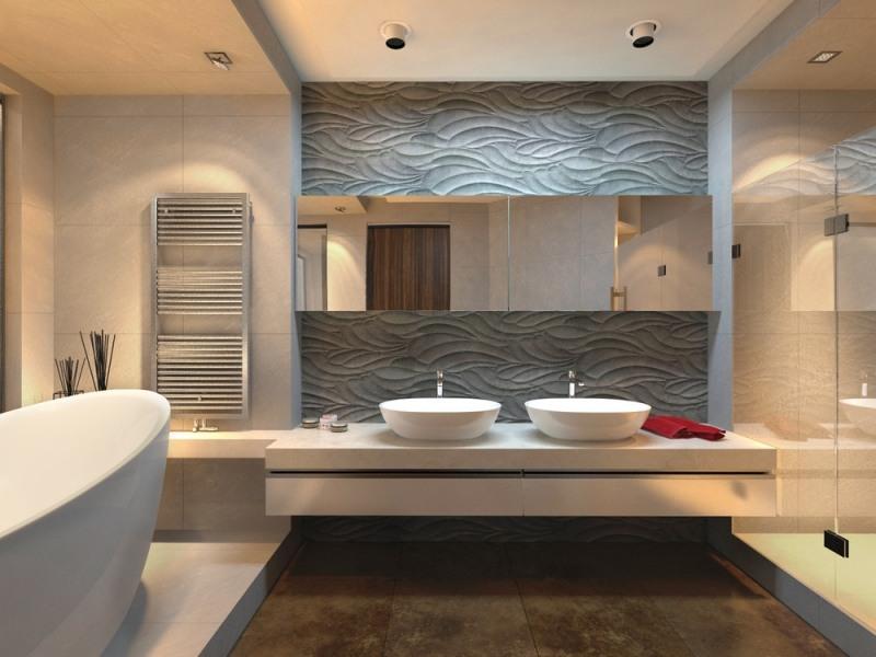 Paneles decorativos y revestimientos para paredes hoy - Revestimiento banos modernos ...