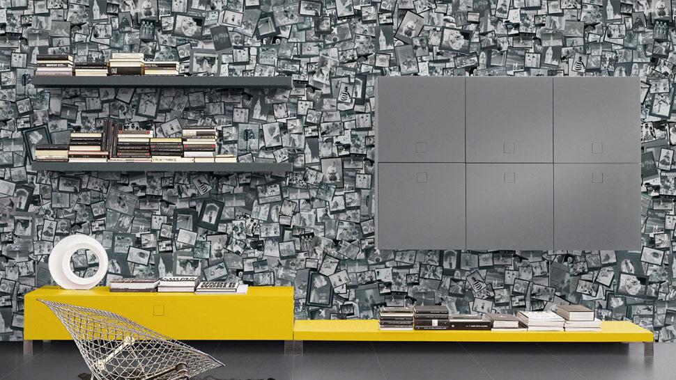 Ideas geniales en revestimiento de paredes hoy lowcost - Papel pintado adhesivo pared ...
