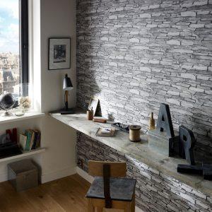 Paredes decoradas en piedra hoy lowcost - Decoracion paredes de piedra ...