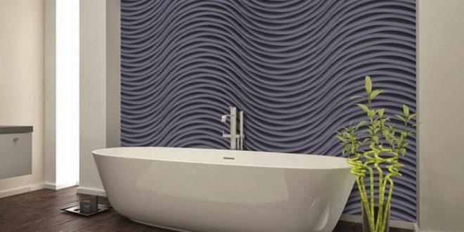Revestimientos de paredes ba os 3d hoy lowcost for Revestimiento vinilico para paredes de banos