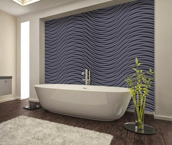 revestimientos de paredes baños 3D
