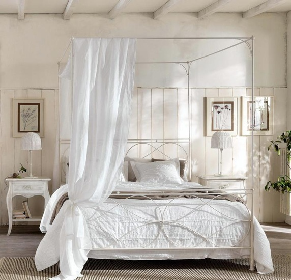 camas dosel dormitorios vintange