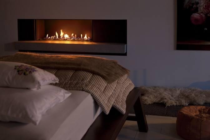 chimeneas decorativas dormitorios acogedores