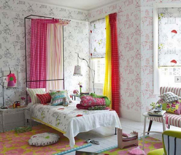 cortinas haitaciones juveniles acogedoras