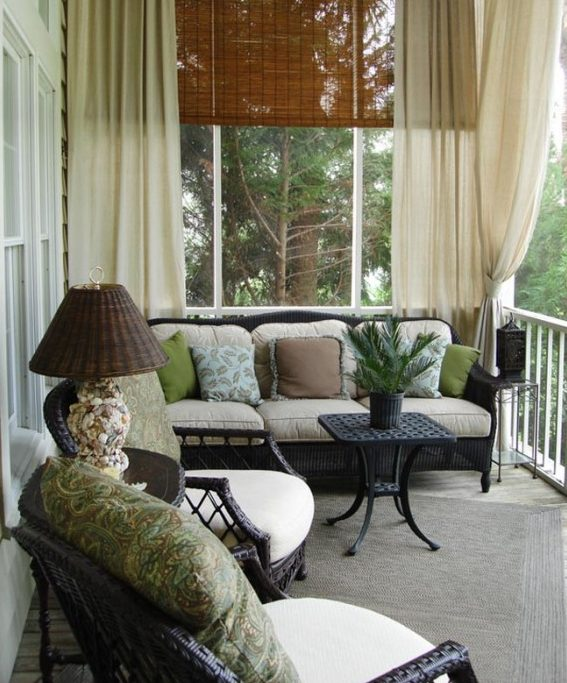 Como decorar una terraza con encanto hoy lowcost - Cortinas para porche exterior ...