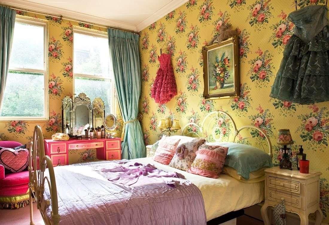 decoracion paredes dormitorios vintange