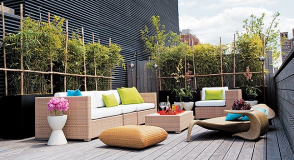 Como decorar una terraza con encanto hoy lowcost - Decorar terrazas aticos ...