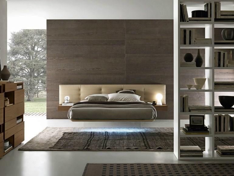 diseño dormitorio cama colgada