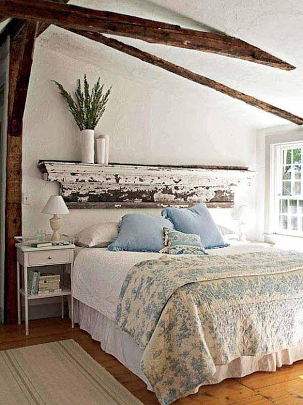 dormitorio vintange acogedor