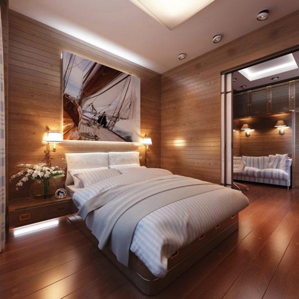 dormitorios masculinos acogedores