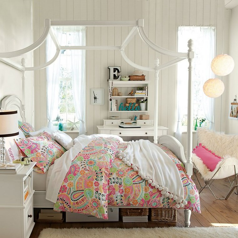 estilo vintange en dormitorios