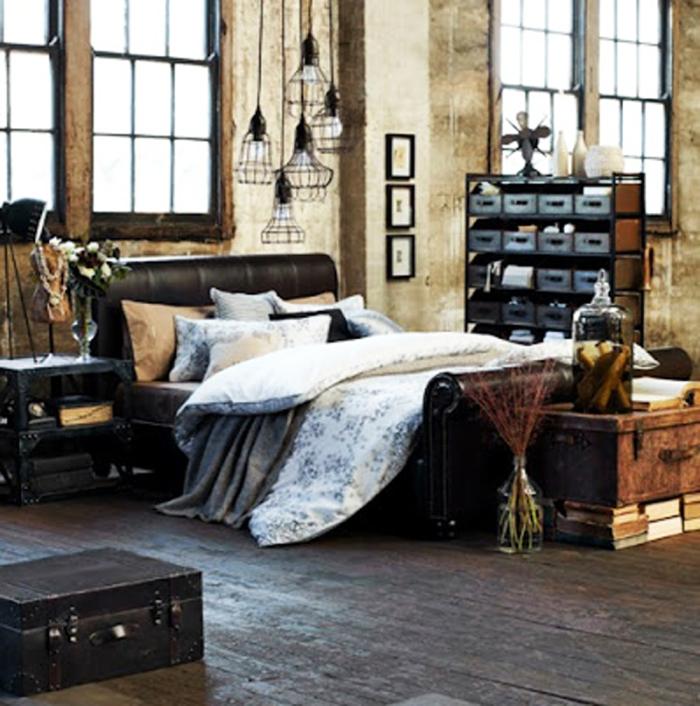 habitacion acogedora estilo industrial