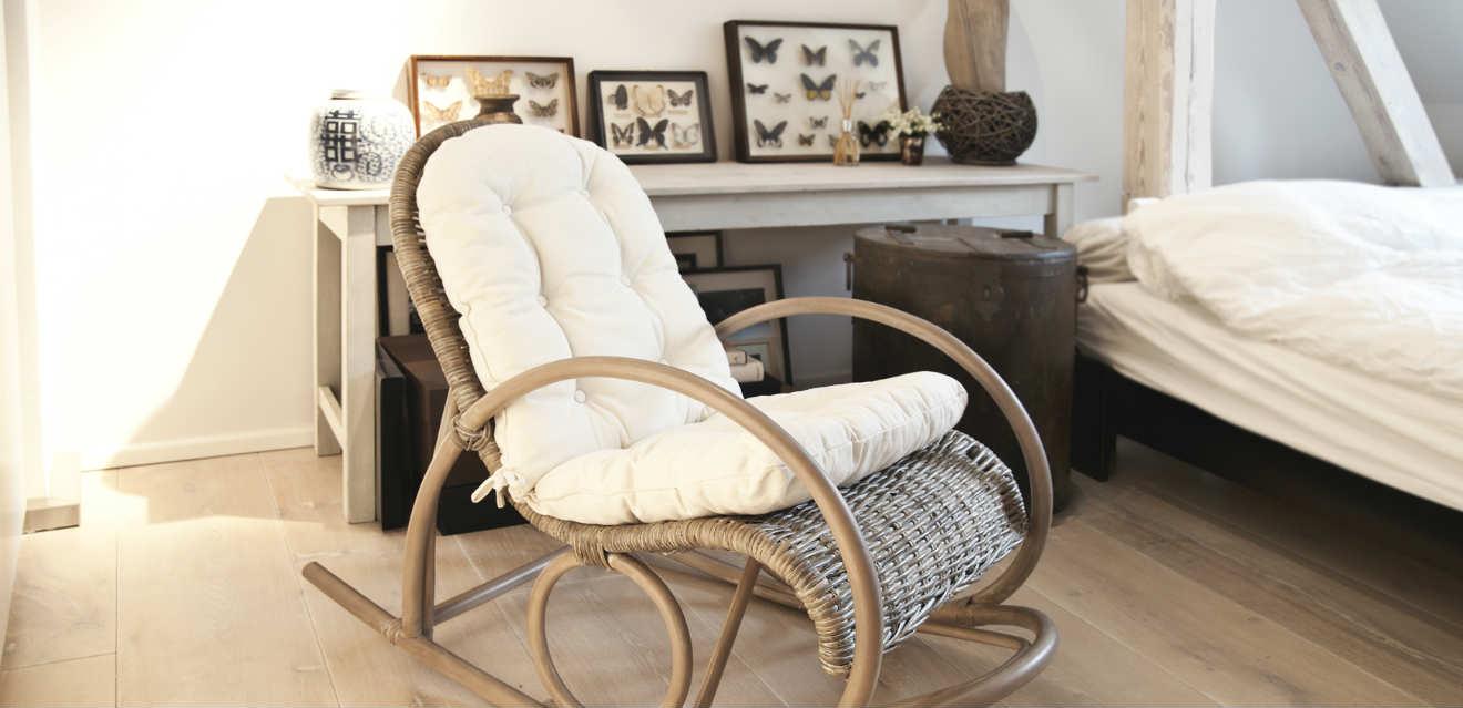 muebles auxiliares vintange mecedora