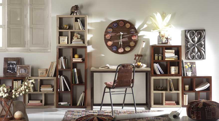 Muebles decoracion baratos pr cticos y funcionales hoy lowcost - Librerias para despacho decoracion ...