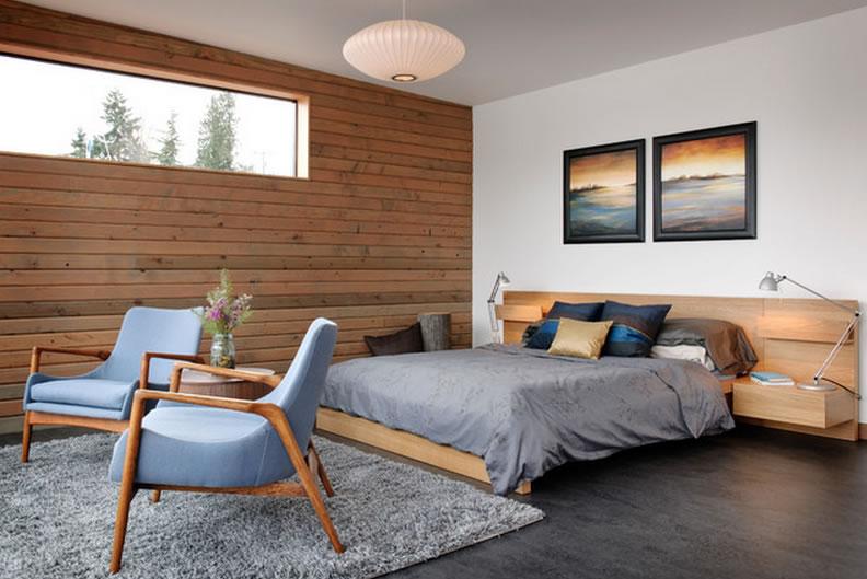 paredes de madera dormitorios acogedores