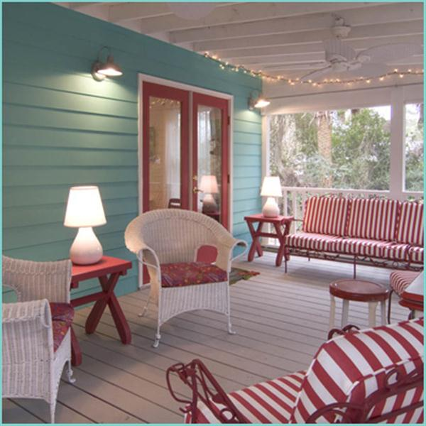 tapicerias rojas para terraza