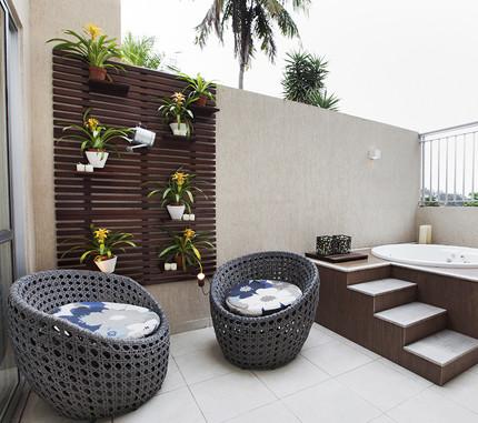 como decorar terrazas con jacuzzi