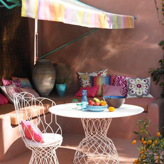 Como decorar una terraza con encanto hoy lowcost - Toldos terraza baratos ...