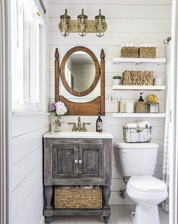 Ideas para decorar ba os r sticos 2018 hoy lowcost Rustic bathroom designs on a budget