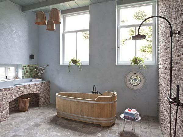 baños rusticos de obra originales