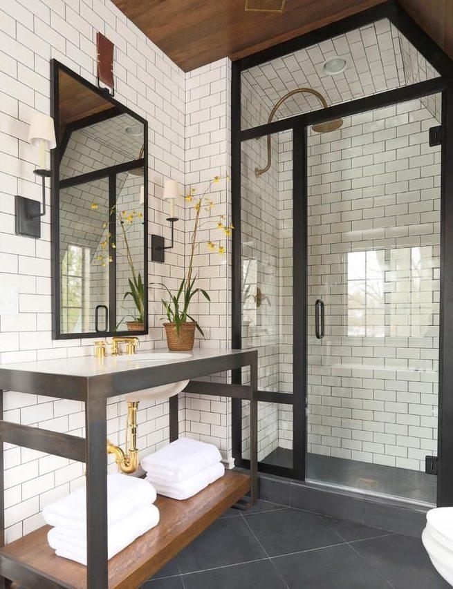 baños estilo rustico