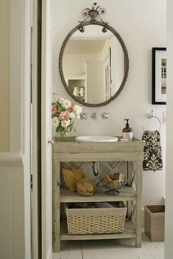 Ideas para decorar ba os r sticos 2018 hoy lowcost for Muebles bano rusticos ikea