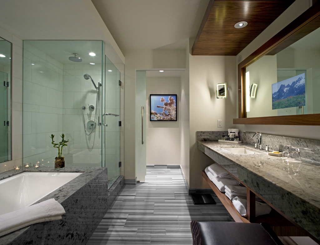 diseño baños rusticos