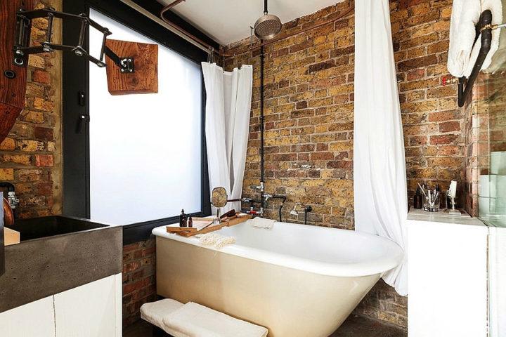 cuarto de baño rustico