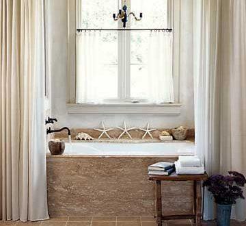 decorar ba os rusticos cortinas hoy lowcost On cortinas para baños rusticos